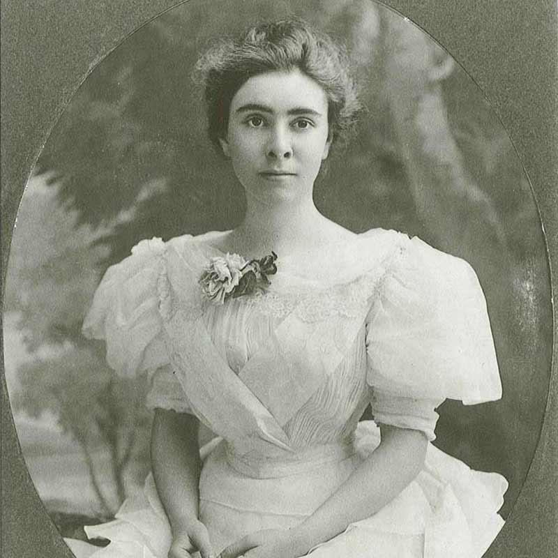 Studio portrait of Clara Hill