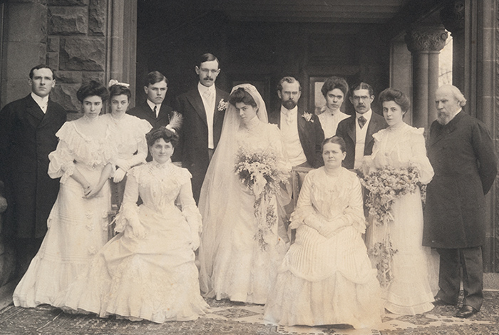 Wedding photo including most of the Hill family members
