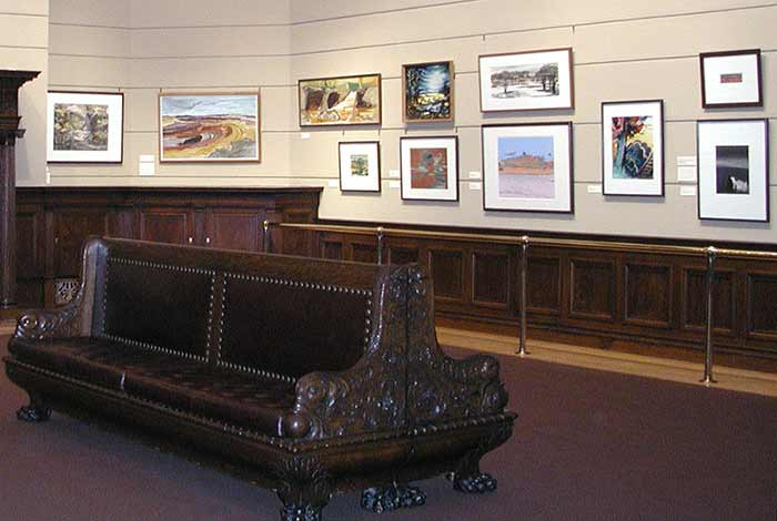 Exhibit on display in the art gallery