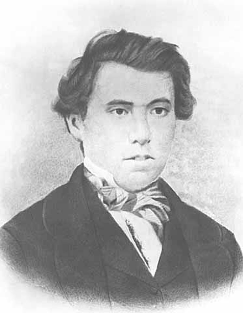 Portrait of James J. Hill as a young man