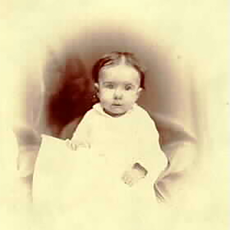 Studio portrait of baby Katie Hill