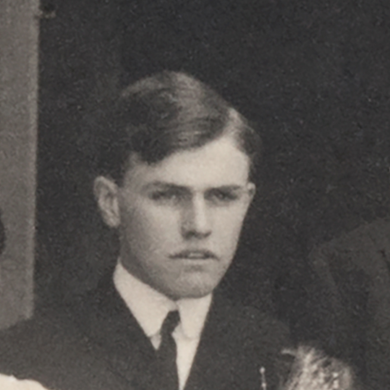Closeup of Walter Hill, cropped from a family photo