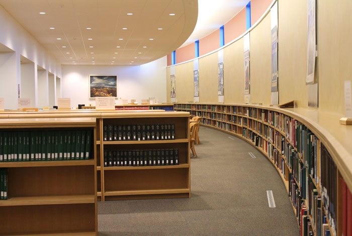 Gale Family Library interior.