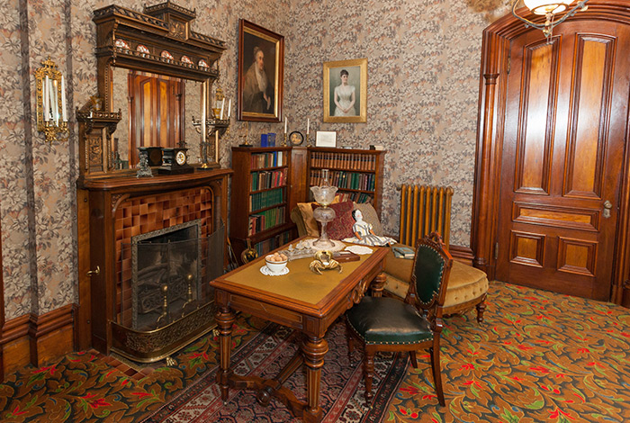 Study in Alexander Ramsey House, with doll on chair