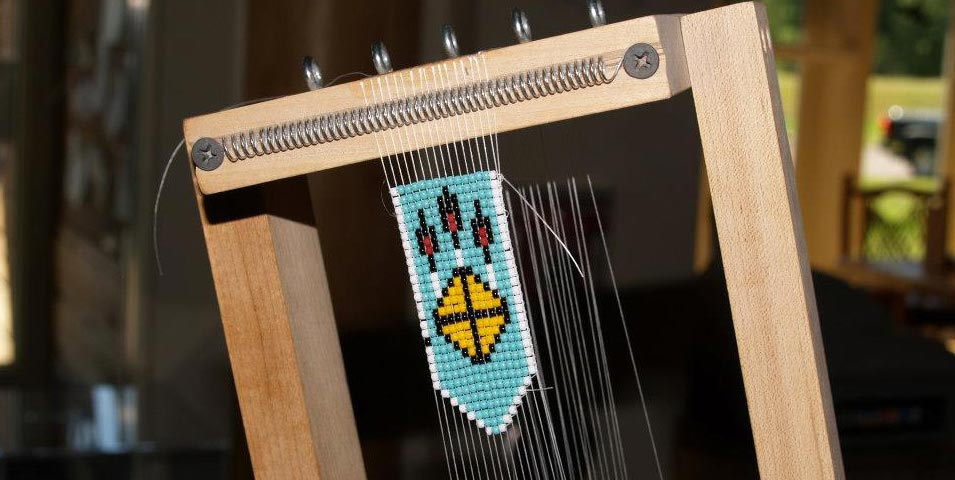 Loom beading workshop.