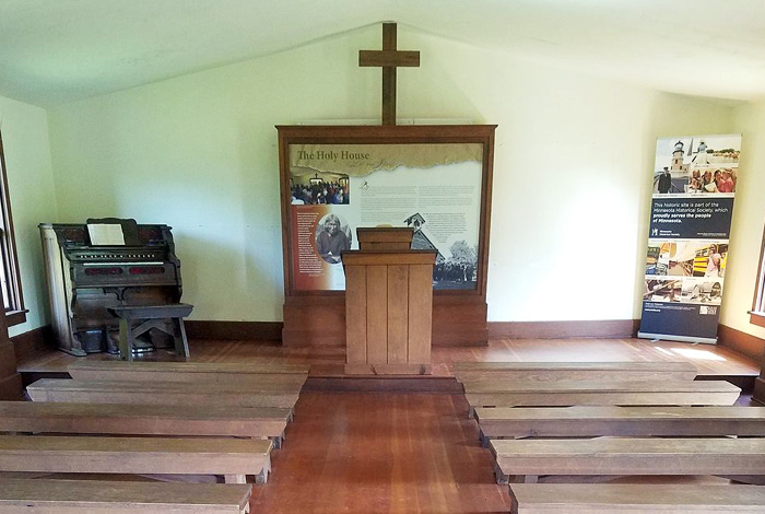 Church alter with pews.