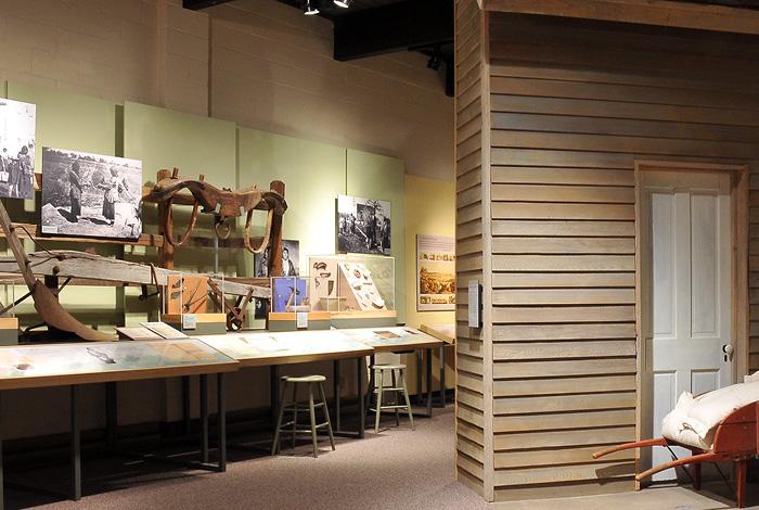 A Dakota history exhibit in Lower Sioux Agency.
