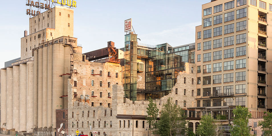 Skyline view of Mill City Museum.