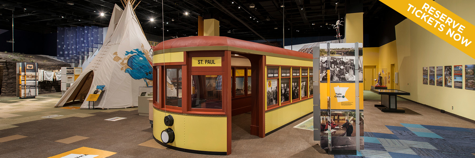 Minnesota History Center Museum now open.