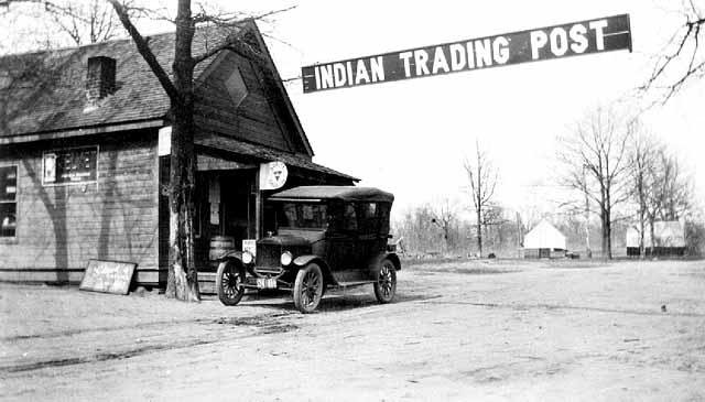 Indian Trading Post, Mille Lacs, 1920.