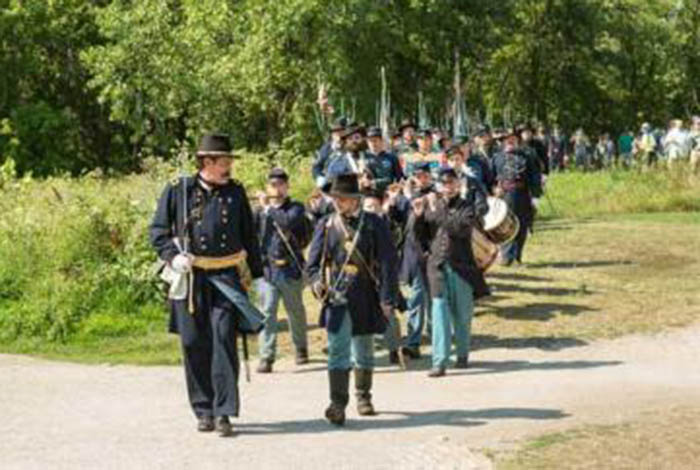 Re-enactors at Historic Fort Snelling.