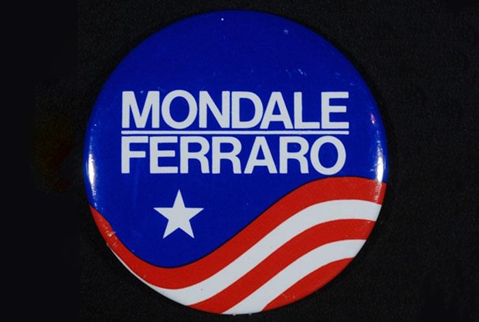 Mondale Ferraro presidential campaign button.