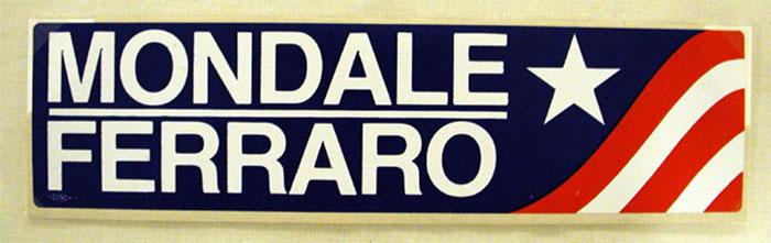 Mondale Ferraro presidential campaign