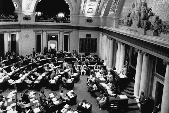 Inside the House of Representatives chamber.