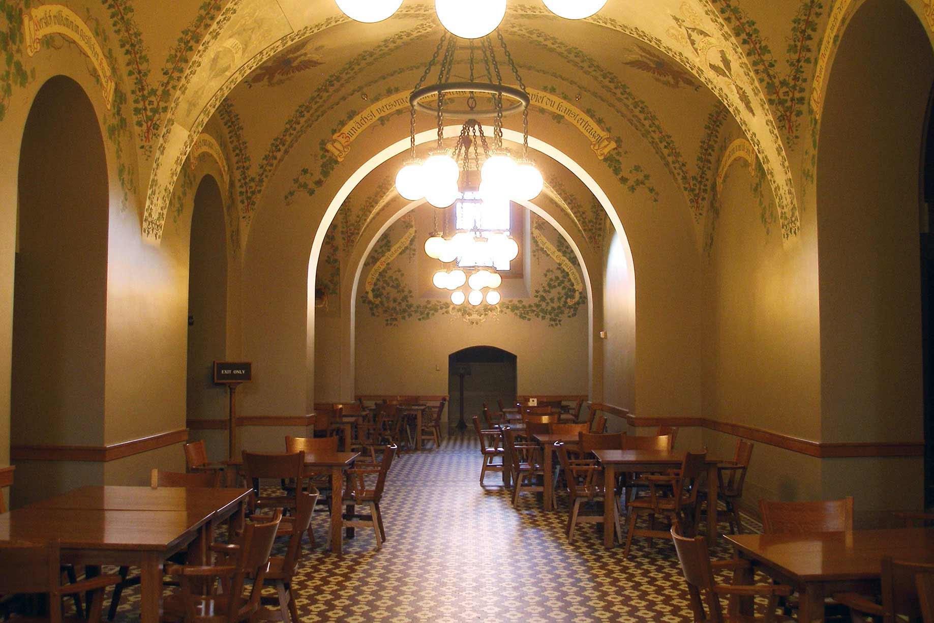 Rathskeller cafe seating.