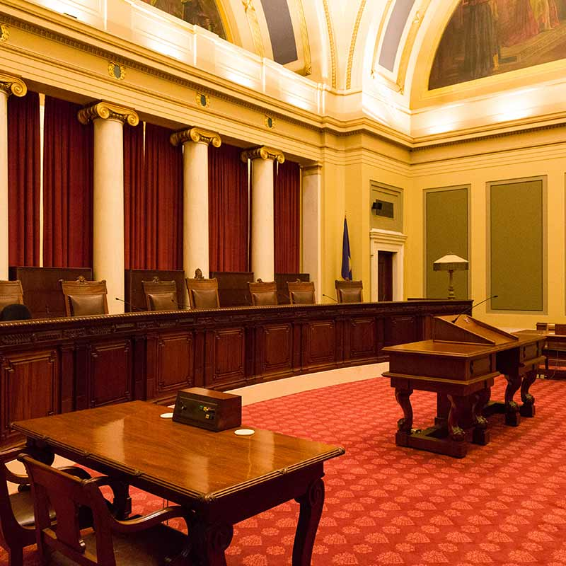 View of the Supreme Court Courtroom