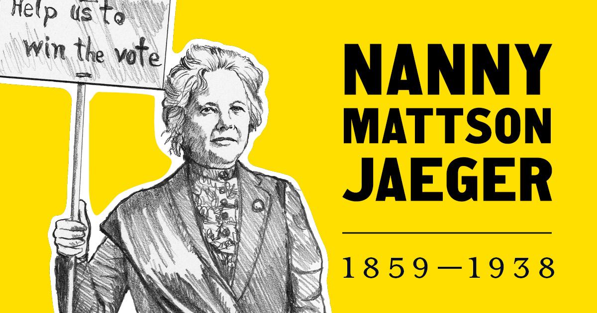Nanny Mattson Jaeger 1859 - 1938.
