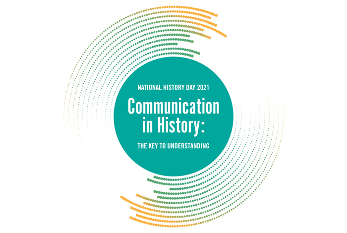 National History Day 2021 logo, Communication in History: the key to understanding.