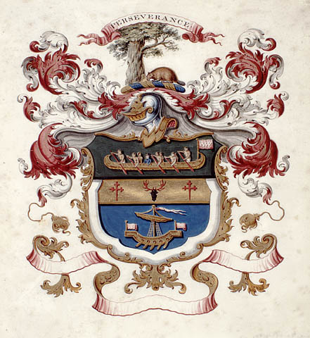 North West Company coat of arms, about 1800–1820.