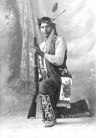 Unidentified Ojibwe man, about 1910.