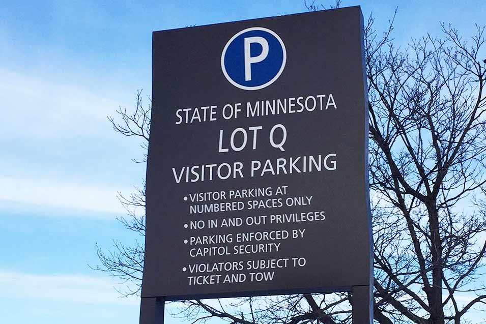 Parking Lot Q sign