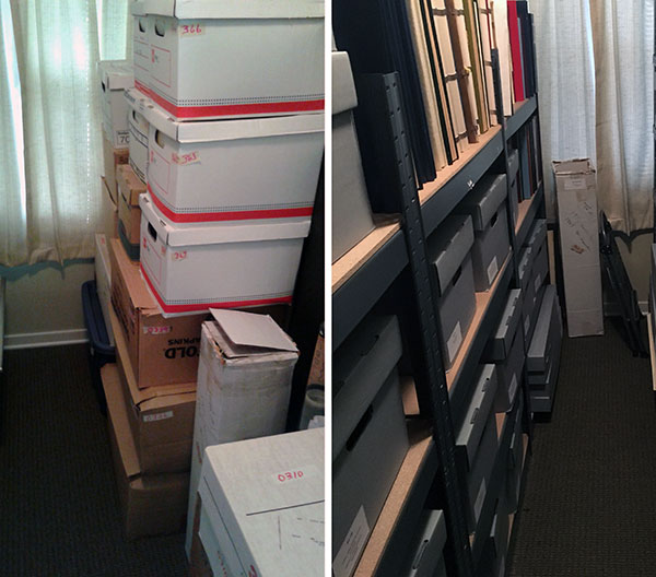 Before-after composite photo of Storage
