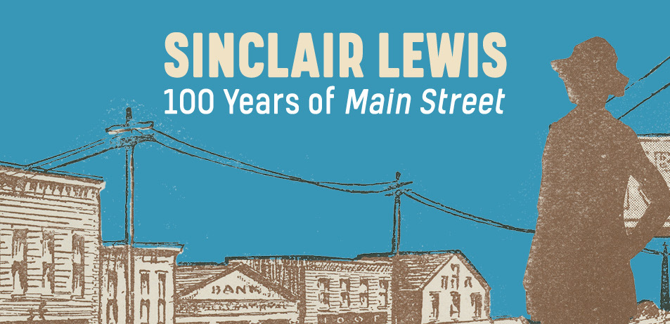 Sinclair Lewis exhibit.