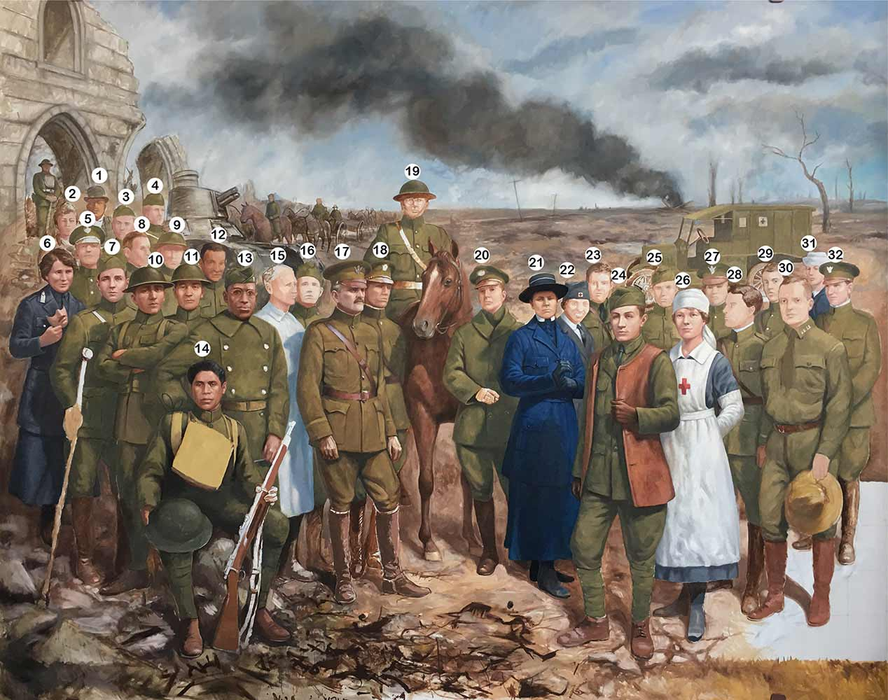war front panel painting