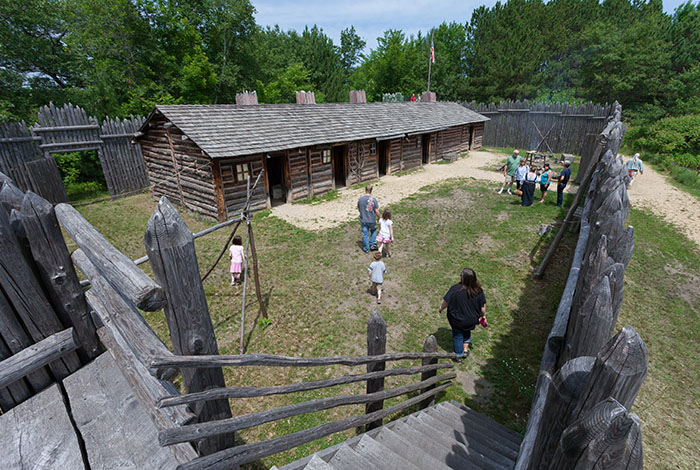 Tour fur post & Ojibwe camp.