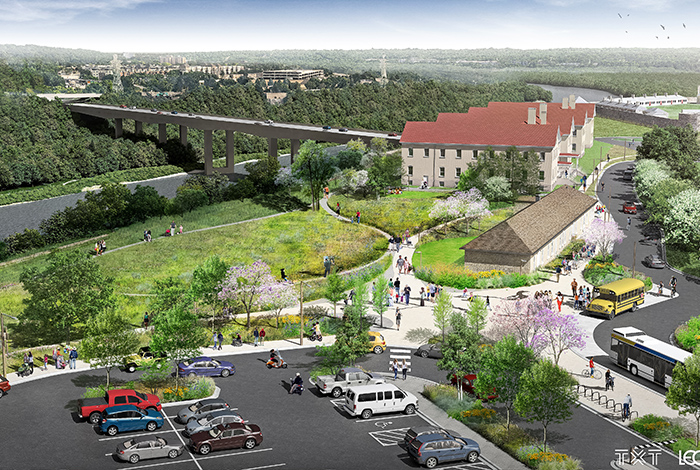Rendering of Fort Snelling.