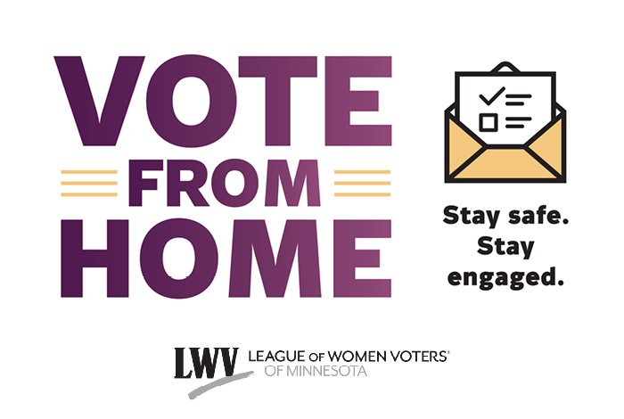 Vote from home league of women voters.