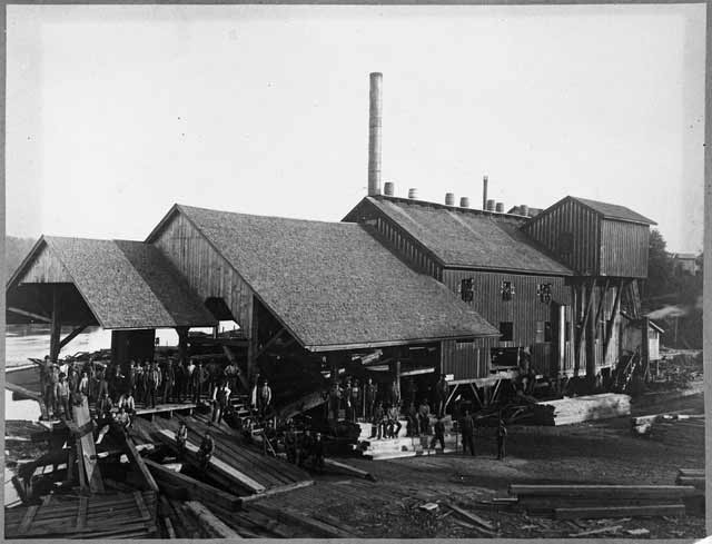 Walker, Judd and Veazie sawmill at Marine Mills.