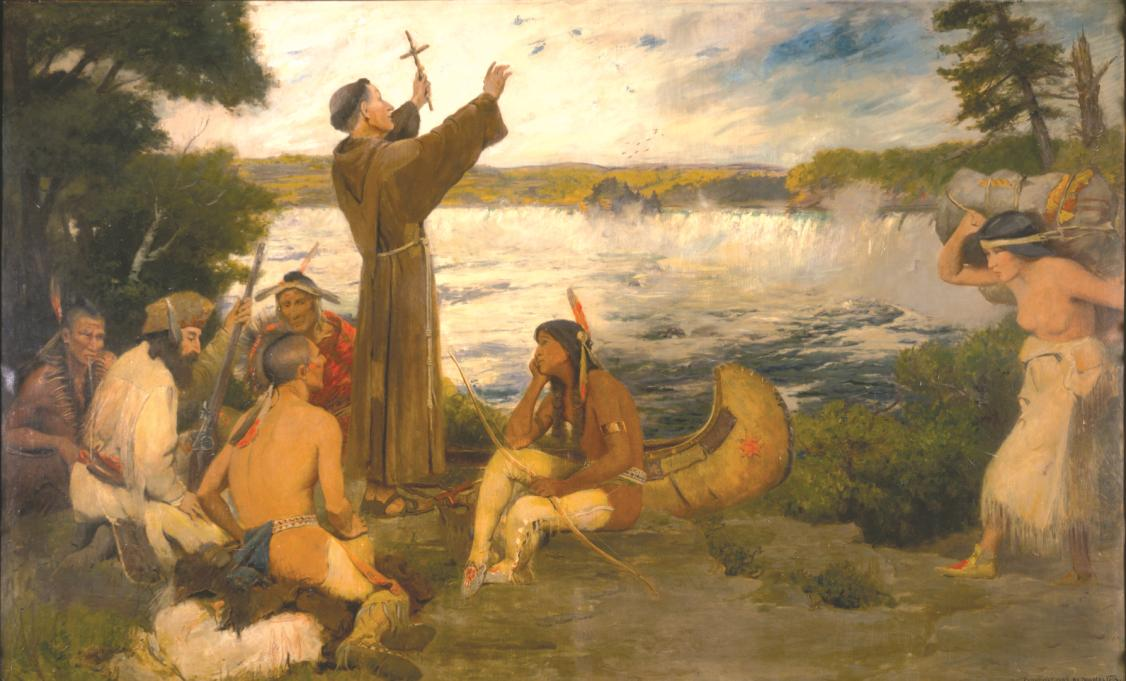 Painting: Father Hennepin Discovering the Falls of St. Anthony