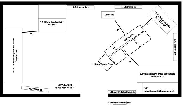 Floor plan schematic.