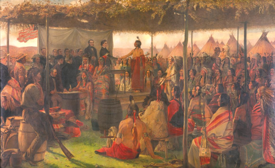 Painting: The Treaty of Traverse des Sioux