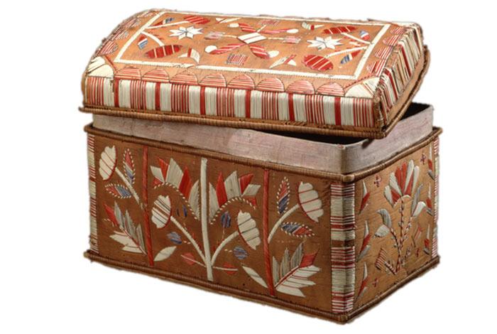 Quilled birch bark box.