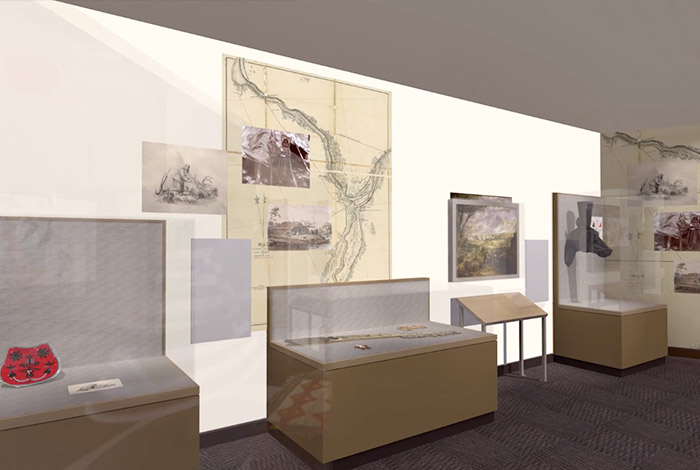 Wall display in exhibit.