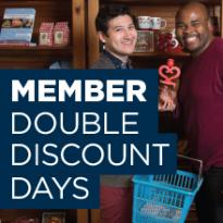 Member double discount days.