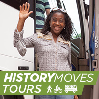 History Moves Tours - walk, bike, bus