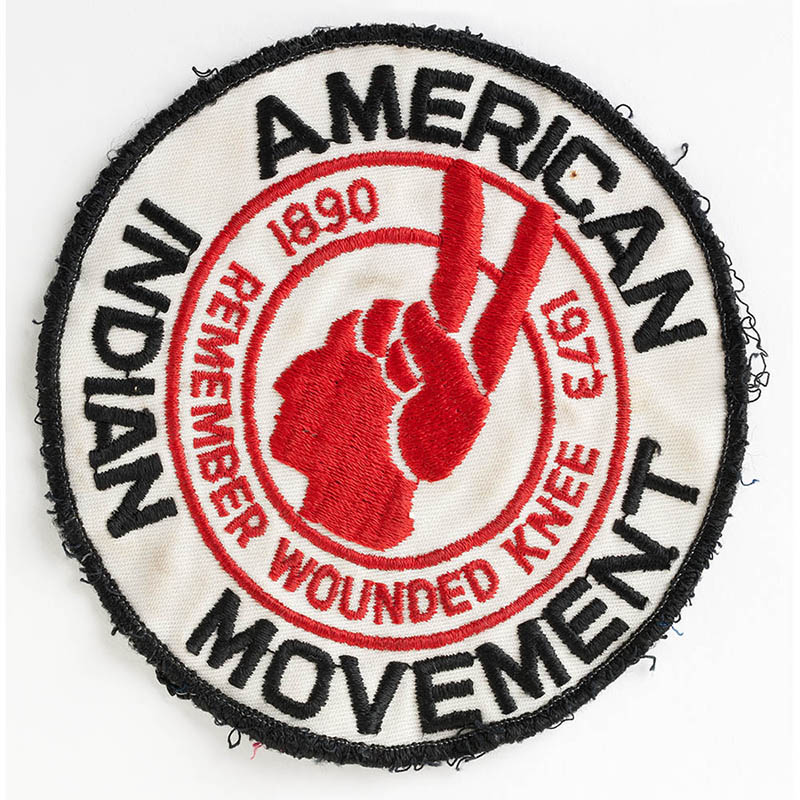 AIM Wounded Knee patch, 1973.