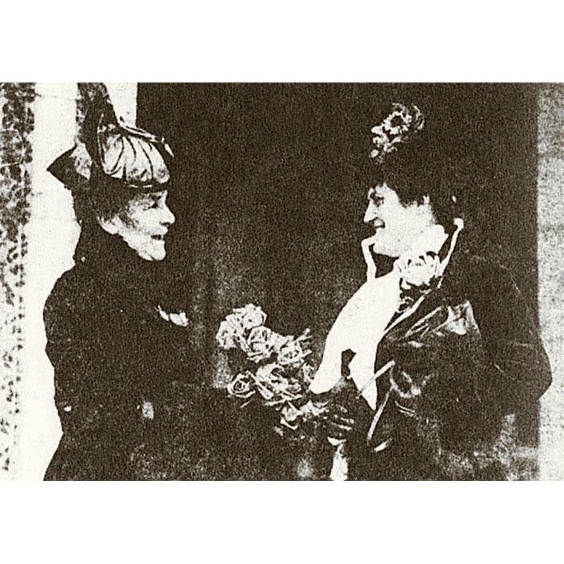 Lavinia Gilfillan (right) with Mrs. William Davis, about 1917.