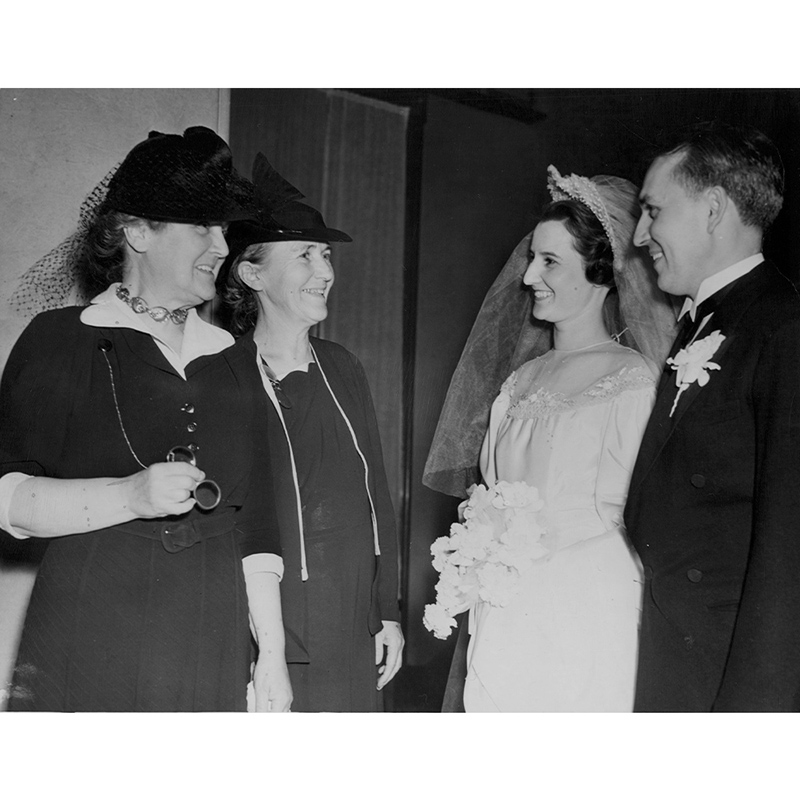 Bellboy gets married, 1940.
