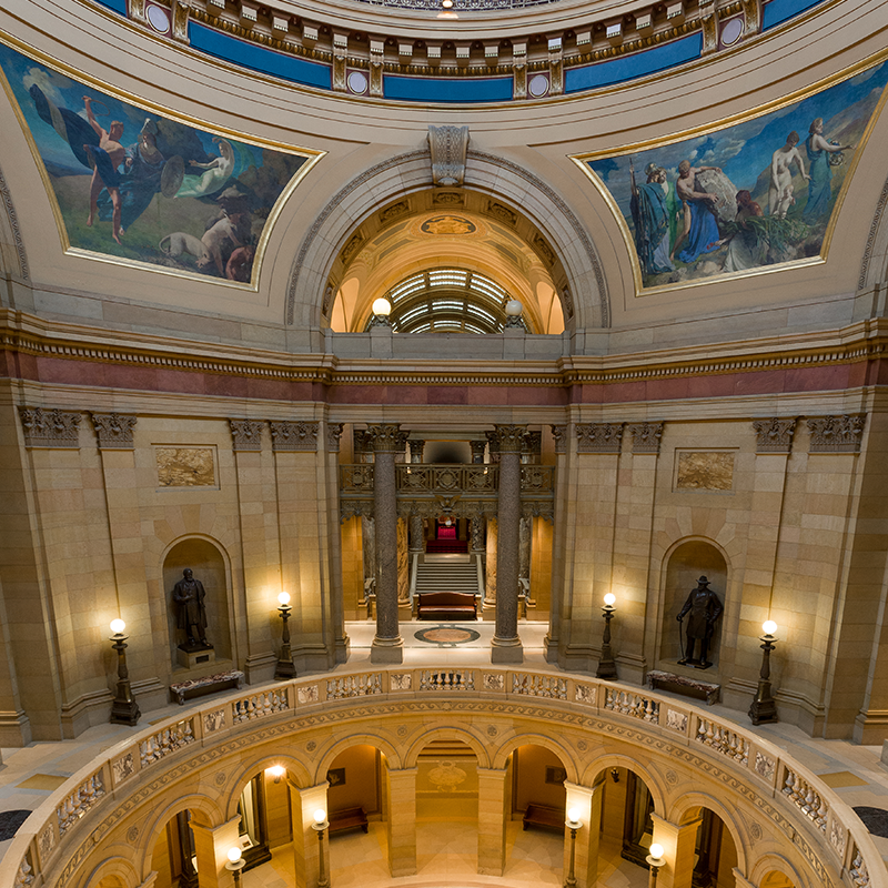 View of the second floor, overlooking the Rotunda