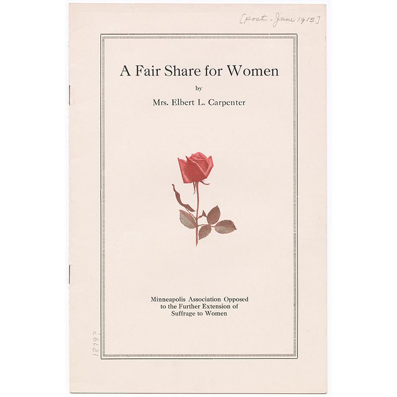 A Fair Share for Women, by Florence Welles Carpenter.