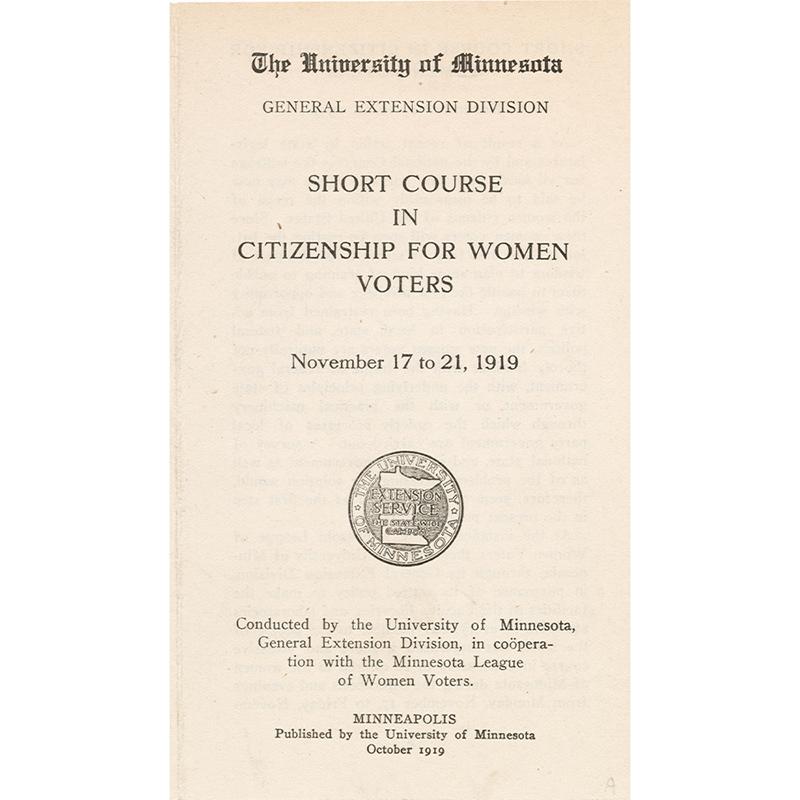 Citizenship course, 1919.