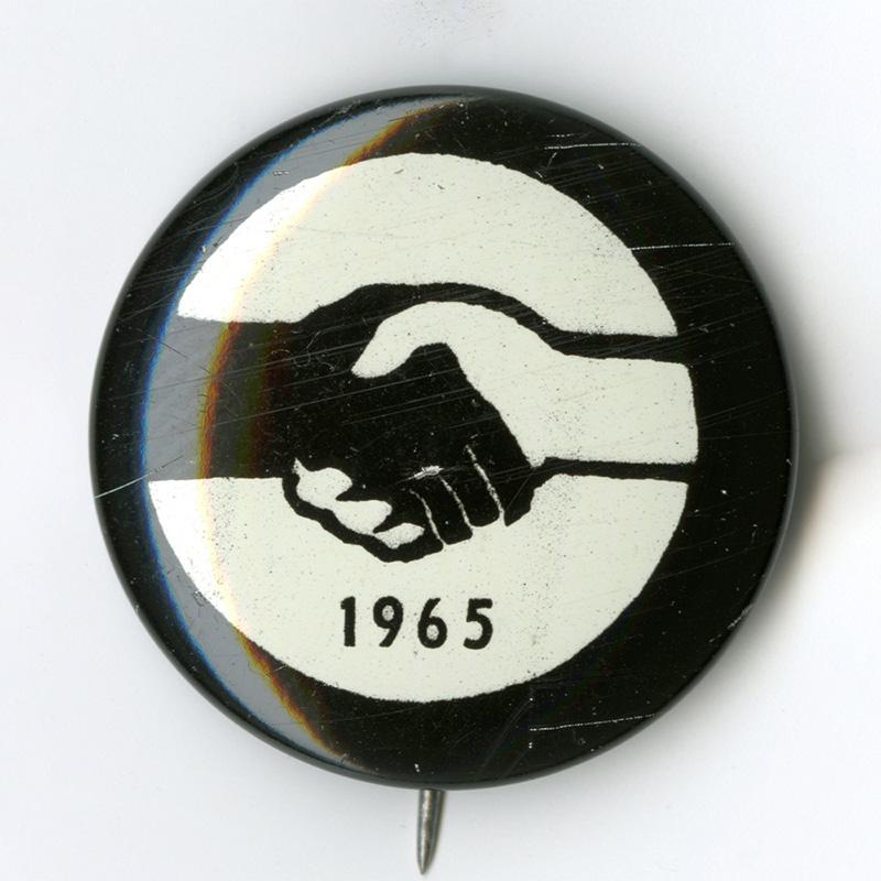 Civil Rights button, 1965.