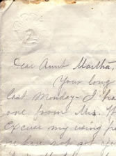 cropped view of letter