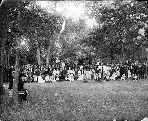 Photo of a worker's picnic, Minnesota, 1893.
