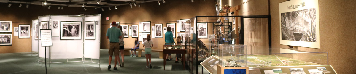 Exhibit hall at Fort Snelling.