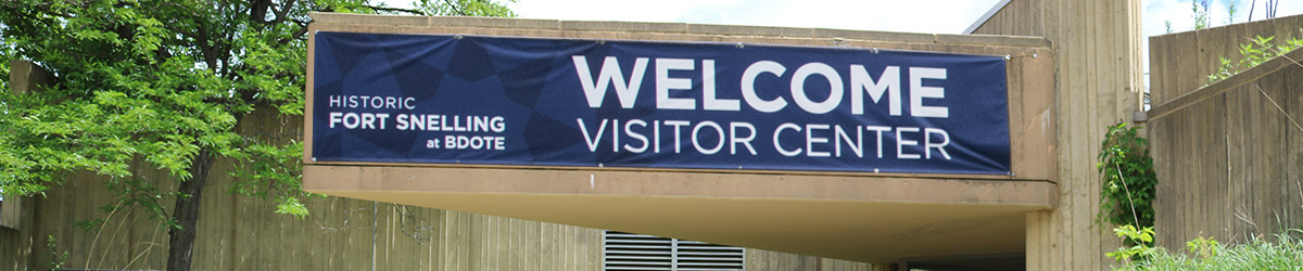 Entrance to the Historic Fort Snelling Visitor Center.